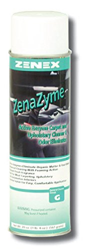 Zenex ZenaZyme Active Enzyme Carpet and Upholstery Cleaner and Odor Eliminator - 12 Cans (Case) by ZENEX International