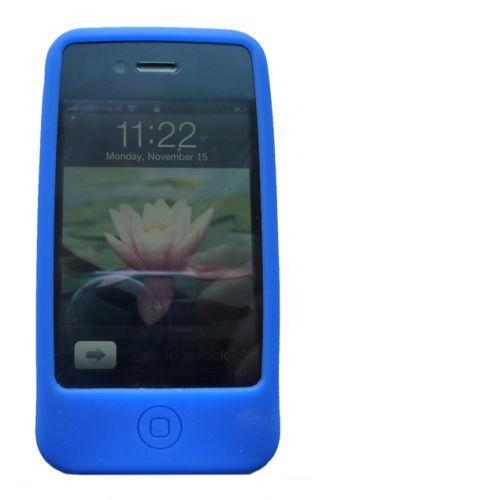 Apple iPhone 5 / 5s Caso Elegante - Azul Silicona TPU Gel Bumper Funda Case Sleeve Skin Para Apple iPhone 5 5s - thinkmobile Silikon Hülle Blau