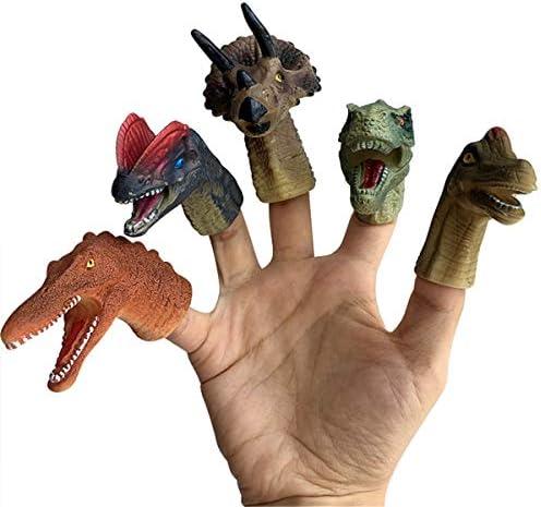[해외]yuanhaourty 5PCS Realistic Dinosaur Finger Puppets Set Kids Role Playing Toy Tell Story Prop for Child Kids / yuanhaourty 5PCS Realistic Dinosaur Finger Puppets Set Kids Role Playing Toy Tell Story Prop for Child Kids