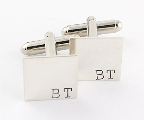 Cufflinks Personalized Initials Sterling Fasteners product image
