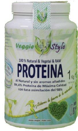 Proteína Vegana Natural Vegetal Raw sin aromas añadidos 1Kg: Amazon.es: Salud y cuidado personal