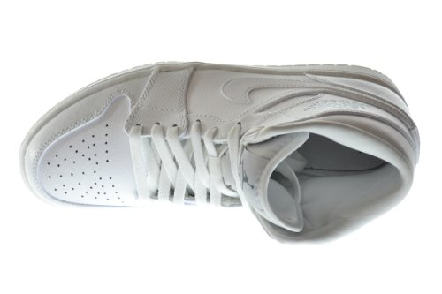 Air Jordan 1 Mid Mens Scarpe Da Basket Bianco / Freddo Grigio-bianco 554724-120 Bianco / Freddo Grigio-bianco