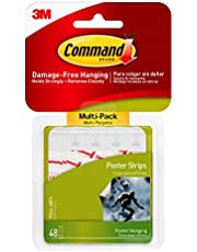 Command 3M Poster Lijm Strip Value Pack, Wit, 48 Strips/Pack
