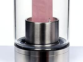 Botella de Agua de Cristal de Cuarzo Rosa, Botella de Agua ...