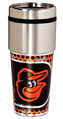 Great American Products MLB Baltimore Orioles Metallic Tumbler, One Size, Black