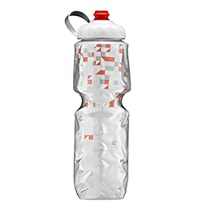 Polar Bottle Insulated Zipstream Water Bottle - 24oz, BreakAway Orange