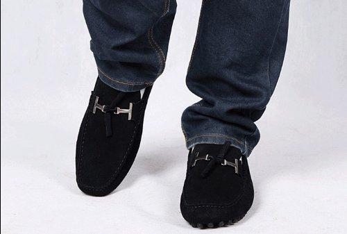 Happyshop (tm) Homme En Cuir Suédé Slip Tassel Sur Mocassins Conduire Chaussures De Voiture Pour Hommes Mocassin Eur Taille 38-45 Noir