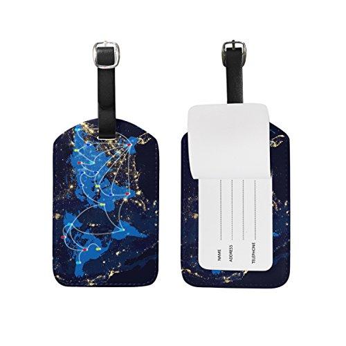 saobao etiqueta de equipaje de viaje el mapa de ciencia y tecnología piel sintética bolsa de...