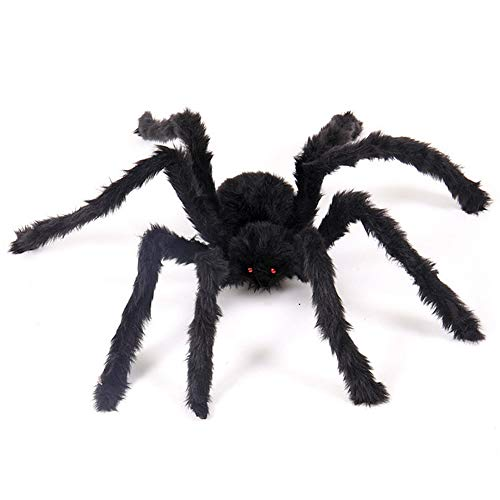 TAKEFUNS Outdoor Halloween Decorations Scary Giant Spider, Fake Large Spider Props,Foldable Scary Huge Spiders for Halloween Yard Decorations Party Decor-4.1ft]()