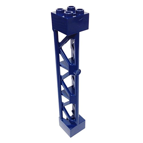Lego-Parts-Support-2-x-2-x-10-Girder-Triangular-Vertical-Type-4-3-Posts-3-Sections-Dark-Blue