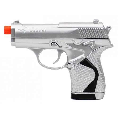 Double Eagle p329 Spring Airsoft Pistol Silver Finish fps-185 (Pistola Airsoft)