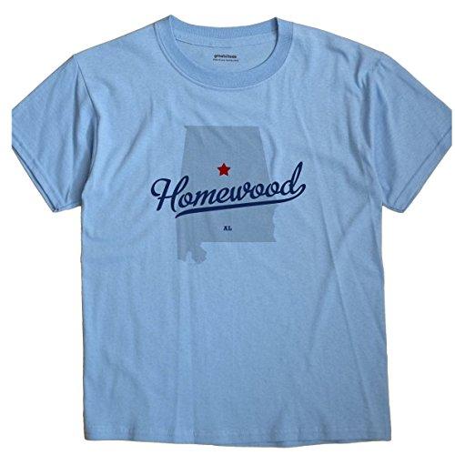 Homewood Alabama AL, Jefferson County MAP GreatCitees Unisex Souvenir T Shirt
