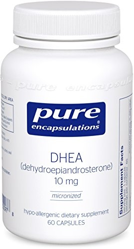 Pure Encapsulations – DHEA (Dehydroepiandrosterone) 10 mg – Micronized Hypoallergenic Supplement – 60 Capsules
