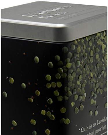Blanco Hogar y Mas Caja Galletas Met/álica Original con Relieve para Almacenamiento 20 cm