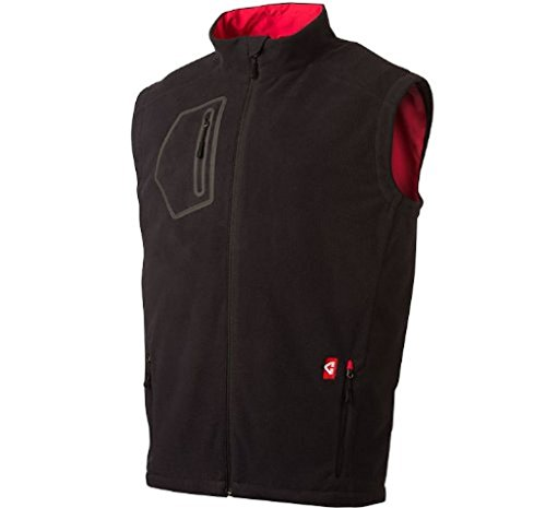 Gerbing's Men's Mountain Sport Fleece Heated Vest - Black/Red-XL