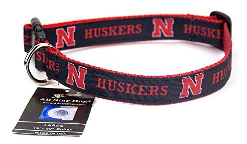 Nebraska Cornhuskers Ribbon Dog Collar - Large