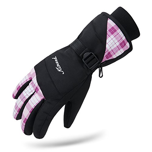 - Citoor Womens Snow Gloves Waterproof Ski Snowboard Riding Windproof 3M Thinsulate Winter Warm Gloves