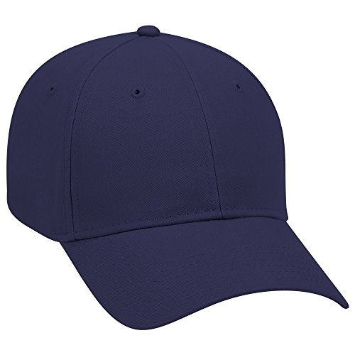 OTTO Brushed Cotton Twill 6 Panel Low Profile Baseball Cap - Navy -