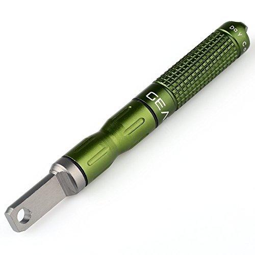 Newsfana EDC Alloy Fire starter Waterproof Magnesium flint stone CNC gear pocket outdoor(Green) ()