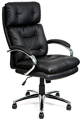 41ybkR 0arL - HULLR Big & Tall Executive Swivel Office Desk Chair, 550 lb Capacity