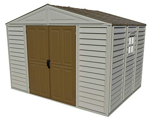 Duramax 10.5x8 Woodbridge Shed w/Foundation-Adobe w/Brown