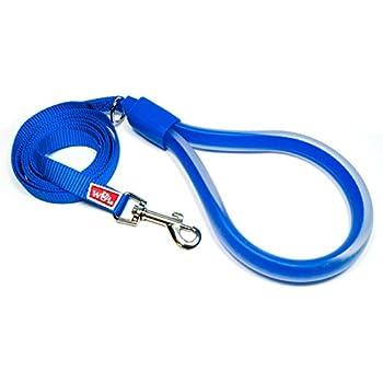 Amazon Com Wigzi Standard Gel Dog Leash Blue 5 8 Quot X 6