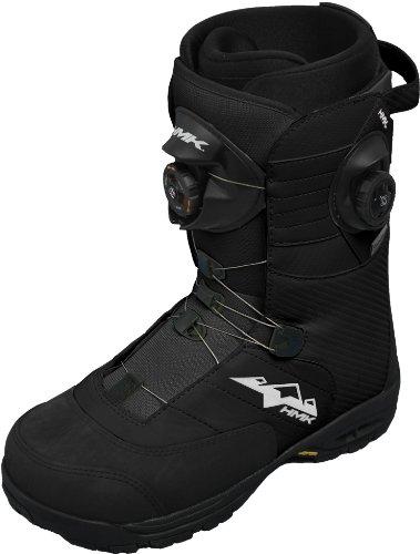 Hmk Snowmobile Boots (HMK Team Boa Focus Snowmobile Boots (Black, Size 9))