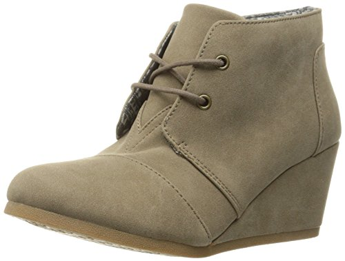 Jellypop Women's Cynthia Wedge Pump Taupe Suede m9tuE1