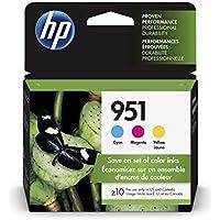 HP 951 Ink Cartridges: Cyan, Magenta & Yellow, 3 Ink...