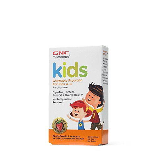 GNC milestones Kids Chewable Probiotic for Kids 4-12 For Sale