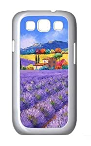 French Country Style Painting Custom Hard Back Case Samsung Galaxy S3 SIII I9300 Case Cover - Polycarbonate - White