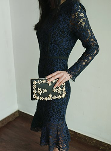 Purses Clutches Wedding Black Girls for Crossbody Women Bridal Evening Handbags Bags and EqSwnWIH