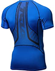 TSLA 1, 2 or 3 Pack Men's UPF 50+ Quick Dry Short Sleeve Compression Shirts, Athletic Workout Shirt, Water Sports Rash Guard