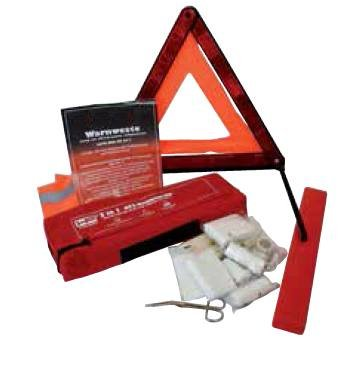 Trio with Reflective Vest 3-in-1 car First Aid Kit Combination Case First Aid Kit Warning Triangle from MR-Style