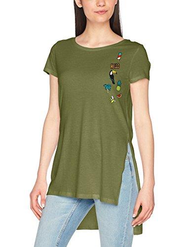 Tally Weijl, Camiseta para Mujer Grün (Olive Night 6O)