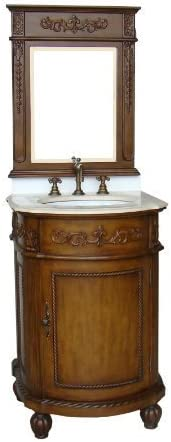 24 Powder Room Special Camelot Bathroom Sink Vanity w Matching Mirror- BWV-048M