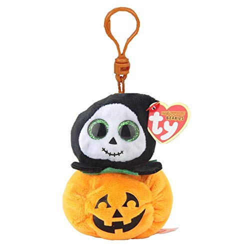 Big Eyes Plush Keychain Toy Doll Fox Owl Dog Unicorn Penguin Giraffe Leopard Monkey Dragon with Tag 4[ 10cm] (Reaper K) ()