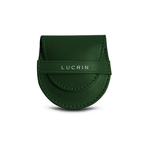 Violet cuir Vert en sac Cuir son Accroche et Lucrin pochon Lisse 0qpUAv