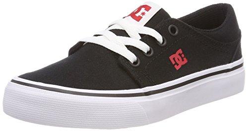 DC Shoes Trase TX, Zapatillas Para Niños Schwarz (Black/Red/White - Combo Xkrw)