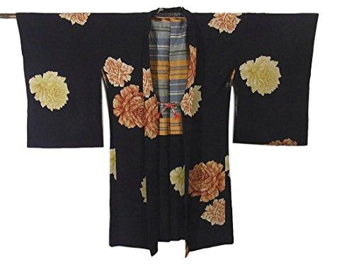 プランテーションコンテスト封建アンティーク 羽織  牡丹の花 正絹 裄62cm 身丈98cm