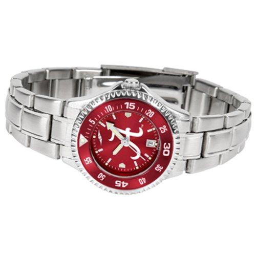 Alabama Crimson Tide Women's Stainless Steel Dress Watch (Alabama Crimson Tide Ladies Watch)