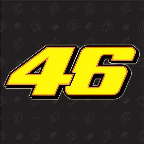 Speedwerk Motorwear 46 Start Number Rossi Moto Gp Sticker Auto
