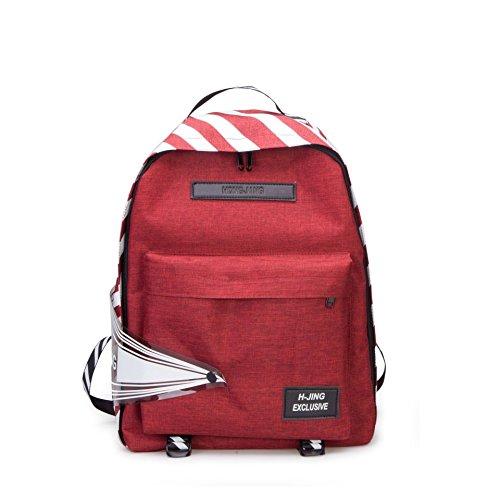 Les femmes imperméable et léger sac à dos étudiant oxford tissu sac à dos mode loisirs sac de voyage sac à bandoulière féminin Red