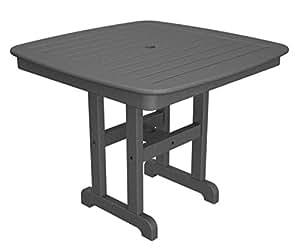 """36.75""""reciclado energía al aire libre Patio mesa de comedor–Color Gris"""