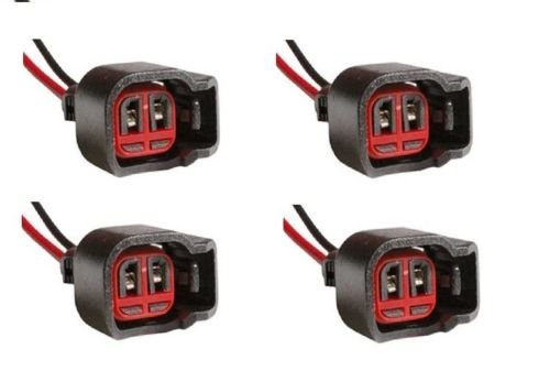(Listing Is for a Set of 4 X Horn Connector Injector Ford Dodge Jeep Chrysler 1p1344 Pt5754 Triton)