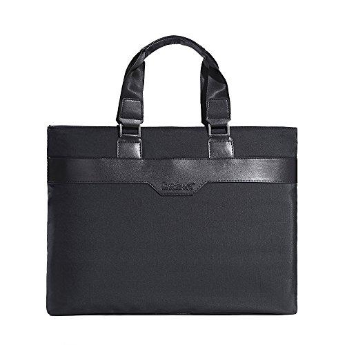 MLVOC Laptop Bag 14.1' Slim Soft Briefcase Business Casual Tote Bag For Macbook/Ultrabook//Business/College/Men/Women(Black)