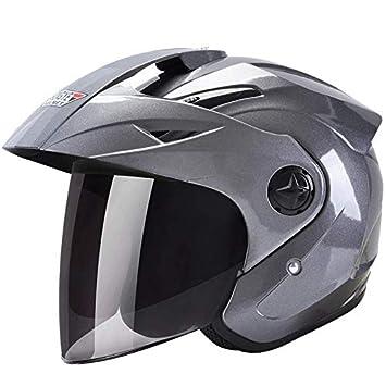 Motocicleta eléctrica casco masculino batería de coche damas cuatro estaciones universal invierno cálido medio casco casco