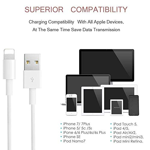 CovertSafe iPhone Charger, Cable, MFi Certified 4 Pack 3FT 6FT 6FT 9FT Charger Cord Charging Cable Charger Compatible with iPhone Xs MAX XR X 8 8 Plus 7 7 Plus 6s 6s Plus 6 6 Plus and More by CovertSafe (Image #5)