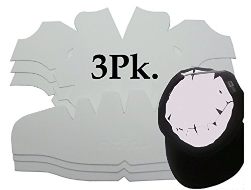 Upright Panel - 3Pk. White Baseball Cap Crown Inserts Panel Hat Shaper| Hat Liner| Snapback| Fitted Cap and Flex-Fit Inserts| Ball cap Form| Hat reducer| Hat stretcher| Hat Storage and Washing Aide. Caps One Size All