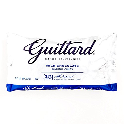 Guittard Milk Chocolate Maxi Baking Chips 32 oz each (2 Items Per Order)